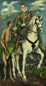 San Martín y el mendigo, pintado por El Greco en 1597