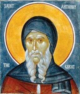 San Antonio abad, icono ortodoxo