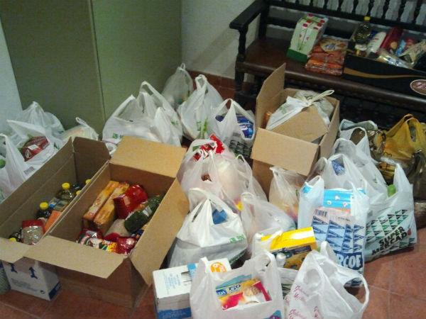 Alimentos recogidos durante el mes de diciembre.
