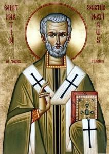 Icono ortodoxo de San Martín de Tours.