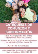 Nuevo curso 21/22: comienzan las catequesis de niños y jóvenes
